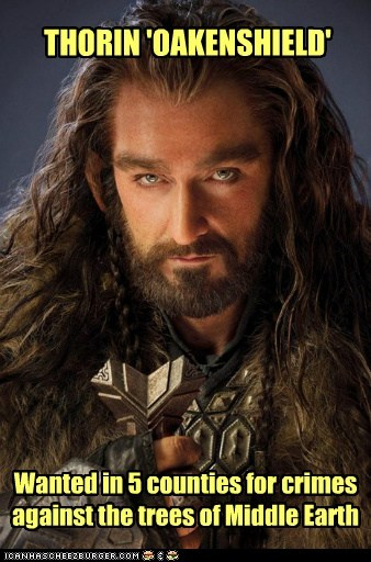 wanted trees richard armitage crimes The Hobbit middle earth thorin oakenshield - 6902980608