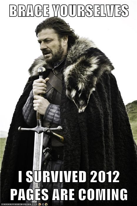 BRACE YOURSELVES  I SURVIVED 2012 PAGES ARE COMING