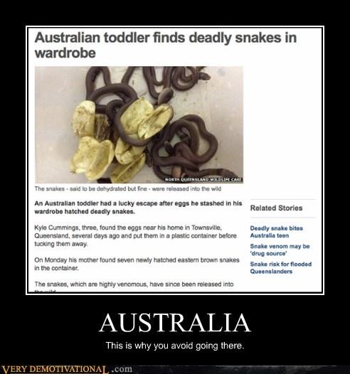 toddler australia snakes wardrobe - 6904758272