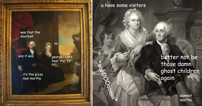 george Washington paintings memes