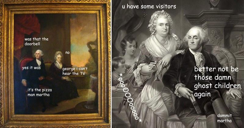 george Washington paintings memes