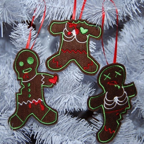 christmas tree,decorations,zombie