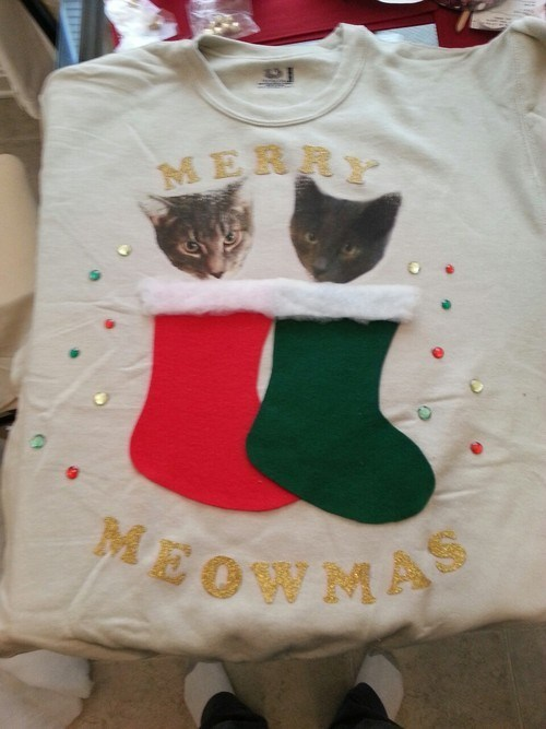 christmas sweater Cats - 6905742848