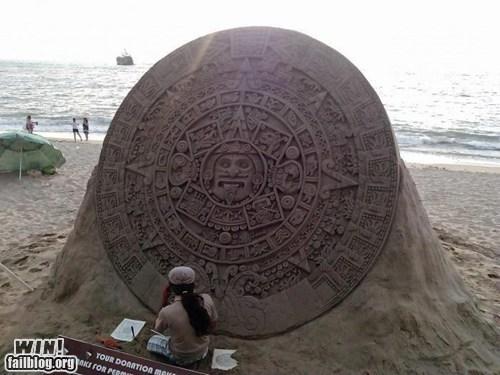 art mayan calendar sand sculpture - 6905928704