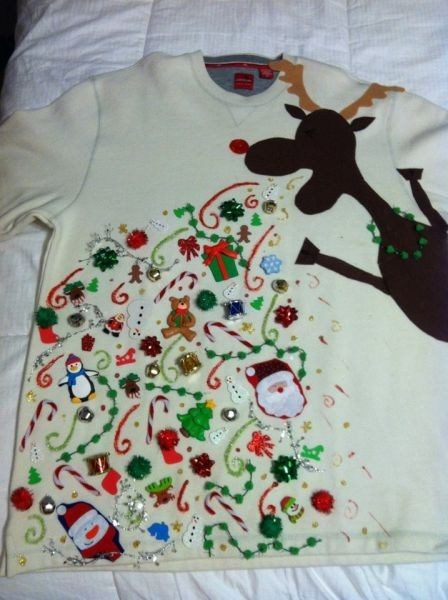reindeer,christmas sweater,poorly dressed,g rated