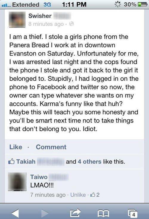 stolen justice facebook thief - 6906072576