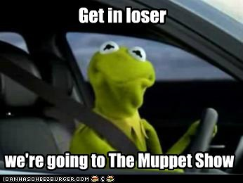 kermit the frog,The Muppet Show,car,driving,mean girls