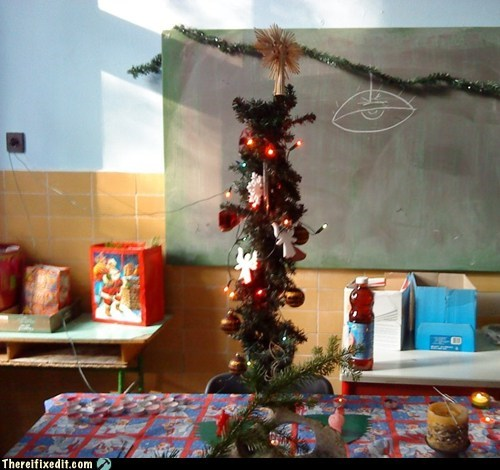 classroom,christmas tree,Nailed It