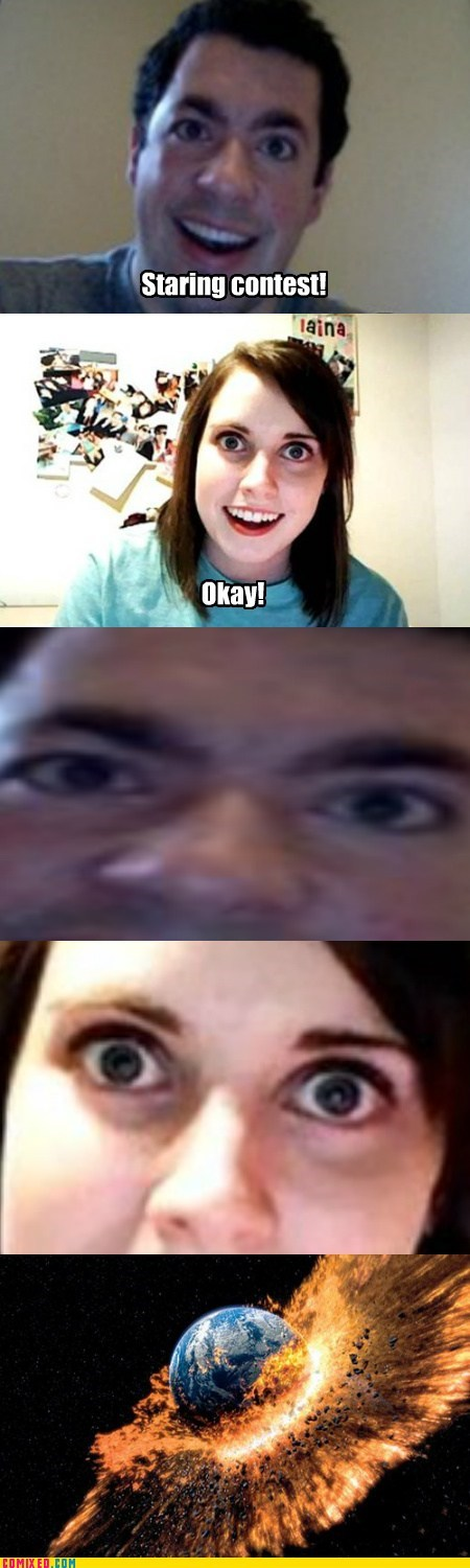 explosion overly attached brony overly attached girlfriend staring contest