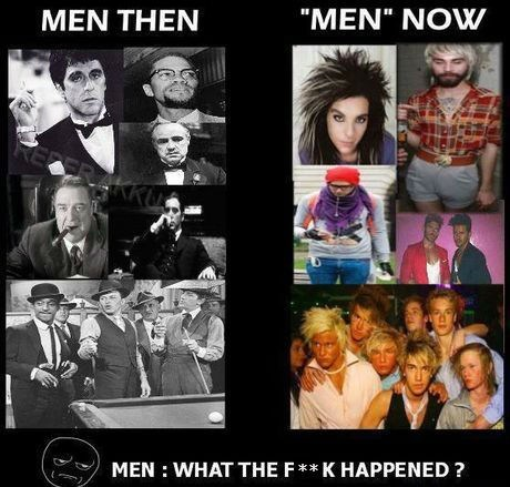 then vs now,men