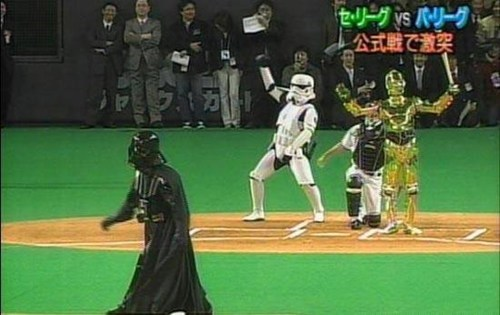 star wars,baseball,the first pitch,darth vader
