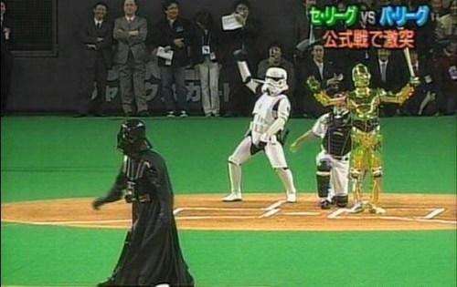 star wars baseball the first pitch darth vader - 6906755072