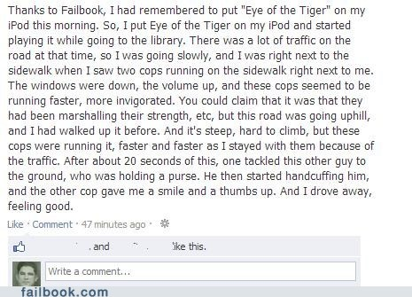 cops,survivor,failbook,eye of the tiger,g rated