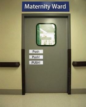 door maternity ward push - 6907060480