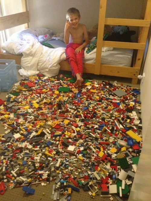 stepping on legos legos messy kids - 6907067392
