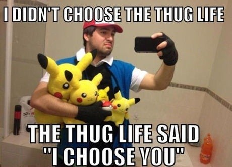 Pokémon pikachu thuggest self poortraits