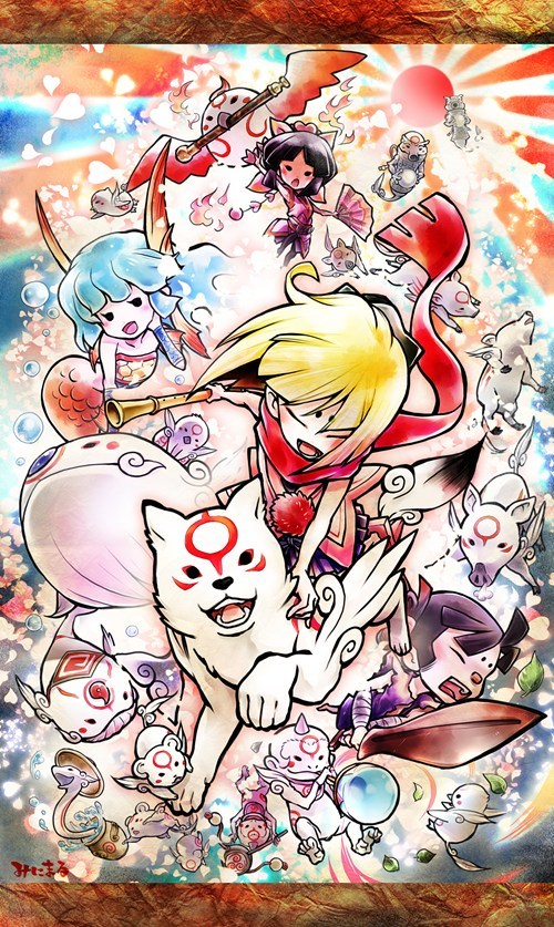 okamiden Fan Art video games - 6907173120