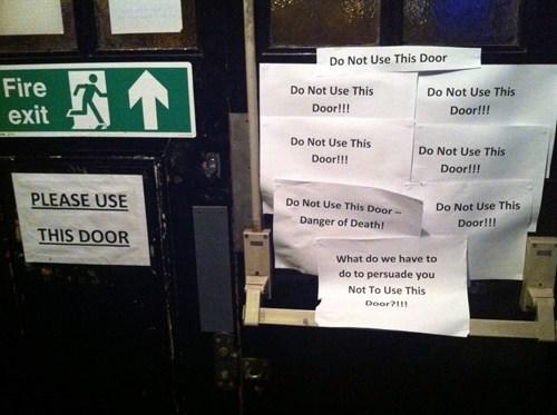 door sign paradox exit - 6907303680