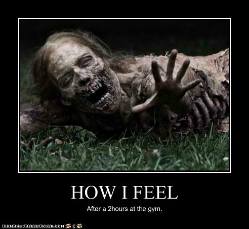 zombie,gym,dead,how i feel,The Walking Dead