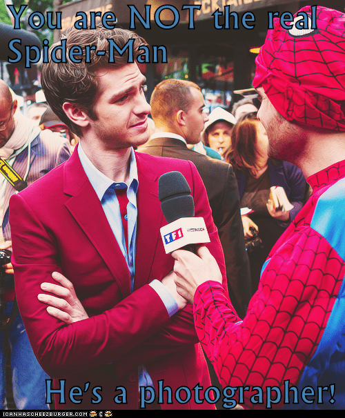 not real Spider-Man andrew garfield interview photographer - 6908666112