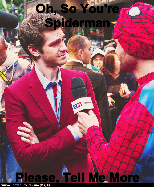 Spider-Man andrew garfield tell me more condescending interview