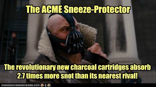 Ad snot the dark knight rises mask bane tom hardy batman sneeze