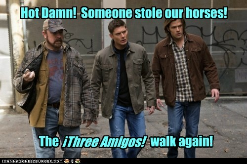 bobby singer,the three amigos,jensen ackles,Supernatural,dean winchester,sam winchester,Jared Padalecki,jim beaver