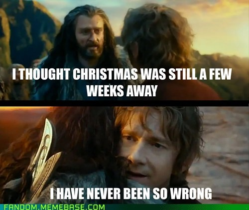 christmas Sudden Change of Heart Thorin jingle memes The Hobbit - 6911093248
