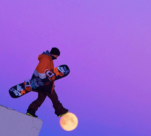 moon,snowboard,neil armstrong