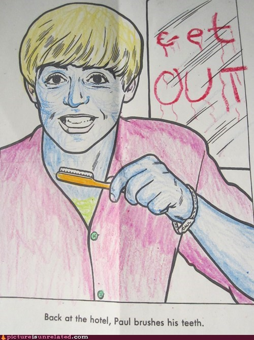 Like a Boss Paul brushing teeth coloring get out - 6911881216