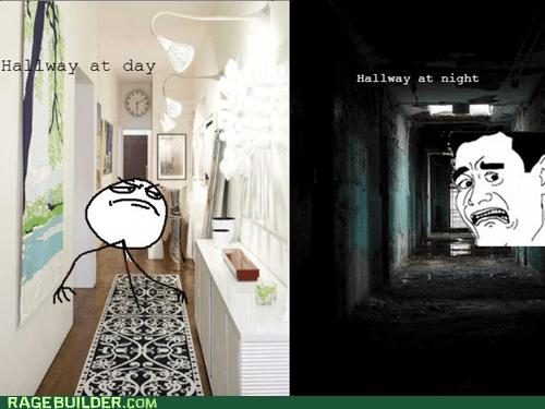 hallway f yeah night