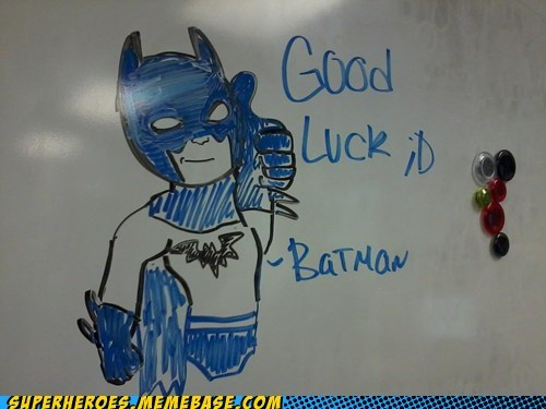 good luck batman class room