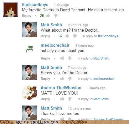 youtube David Tennant youtube comments Matt Smith doctor who - 6912710912