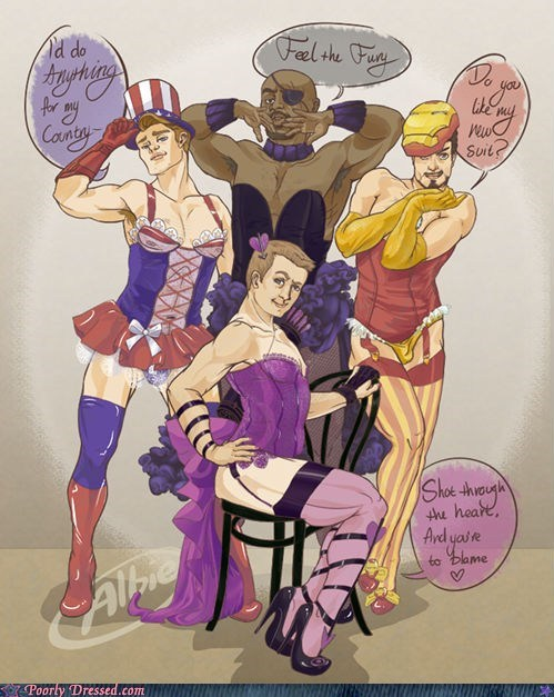 The Avengers,cross dressers