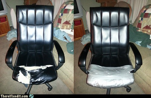 chair,office chair,duct tape