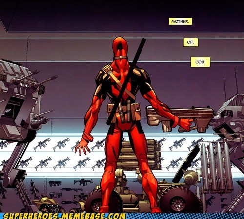 guns star wars deadpool awesome - 6913275392