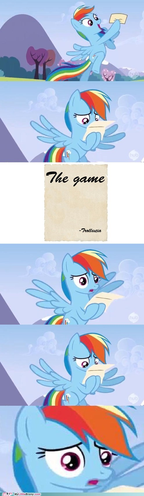 the game reading these tags makes you lose you lost rainbow dash - 6913678336