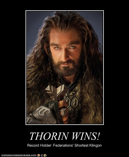 dwarf,wins,richard armitage,The Hobbit,Star Trek,klingon,thorin oakenshield,short