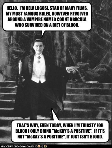 drink huckster advertisement Blood bela lugosi