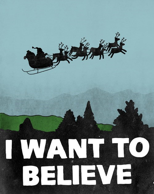 christmas art x files santa funny holidays