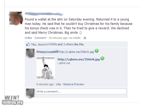 random act of kindness facebook wallet nice lost - 6915200256