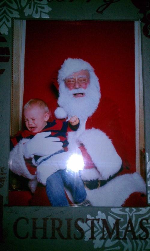 crying baby,santa