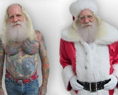 tattoos everywhere,santa claus