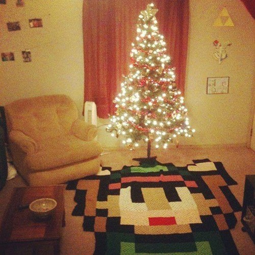 link,IRL,christmas tree,zelda