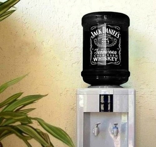 jack daniels whiskey water cooler party hard monday thru friday g rated