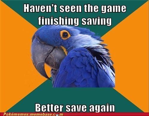 saving,Memes,Paranoid Parrot