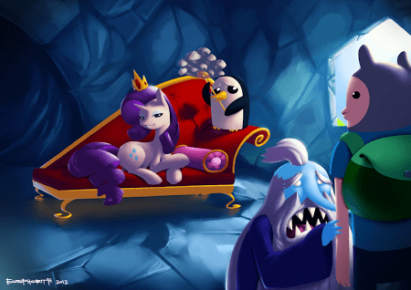 crossover,Bronies,my little pony,Fan Art,adventure time