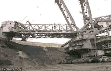 World S Biggest Bucket Wheel Excavator Senor Gif Pronounced Gif Or Jif