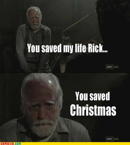 beard TV Rick santa The Walking Dead