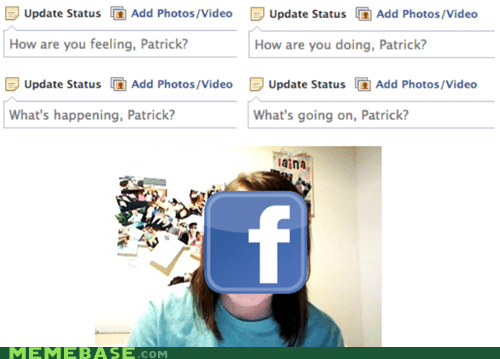 status updates,overly attached girlfriend,facebook